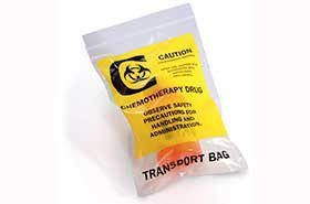 9'' X 12'' 4 Mil Chemotherapy Drug Transport Bags (1,000 Bags) - Laddawn 4057