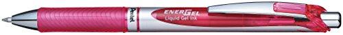 Pentel EnerGel Deluxe RTX Retractable Liquid Gel Pen, Medium Line, Metal Tip, Pink Ink, Box of 12 (BL77-P)