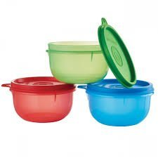 Convenient Portable Snack Container Bowls Set of Three with Lids