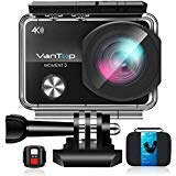 VanTop 4K WiFi Action Camera w/ 32GB TF Card, 16MP Sony Sensor, Gopro Compatible Case,Remote Control, Ultra Wide View Angle, 2 Batteries and 21 Gopro Compatible Accessories Kits
