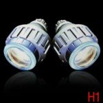 6000K White Light H1 Bi-Xenon Angel Eyes Projector Lens Light Auto HID Conversion Kit