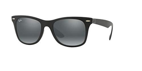 Black Gradient Mirror Silver Wayfarer Liteforce grey Sunglasses Rb4195 Matte ban Ray vwqH44