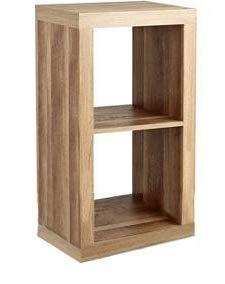 REALONE Classical K-D Brief 2-Cube Bookcase Organizer Storage Cabinet, Brown