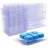 Clamshell Molds - MosBug Wax Melt Molds 100 Pack Wax Molds Clear Plastic Wax Melt Clamshells