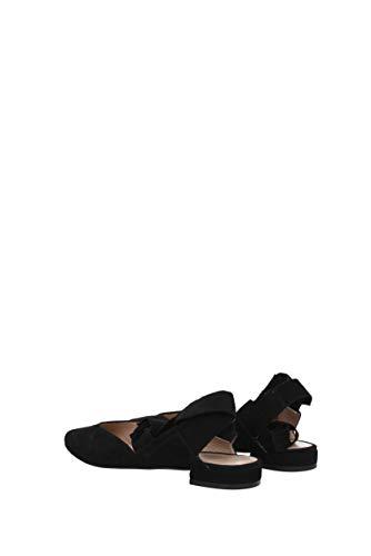 Flat Ballet GamuzaBlack Mujer Weitzman Supersonic Negro Stuart Suede qwnPU4Z4