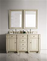 Vintage Undermount Bathroom Sink - 60 in. Double Vanity in Vintage Vanilla Finish