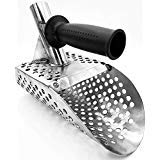 Beach Sand Scoop with handle Metal Detecting Tool Stainless Steel Detector 3 days Delivery Tool Stainless Steel Water Metal Detecting Fast Sifting Metal detector New 1.5 mm