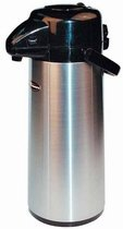Winco Push Button Decanter Decaf, 2.5-Liter, Stainless Steel Lined Airpot