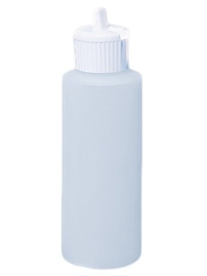 4 Oz Natural Plastic Cylinder Bottles with Flip Top Pour Spout, Pack of 6
