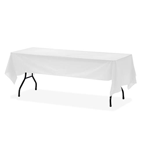 Orangehome 12-Pack Table Cloth Plastic Table Cover Disposable Tablecloth Rectangle 54