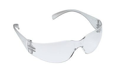 3M Virtua Safety Glasses with Clear Frame and Clear Polycarbonate Anti-Scratch Hard Coat (Coat Clear Lens)