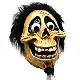 Halloween Skull Latex Mask Full Head Movie Coco Hector Costume Fancy Dress Prop]()