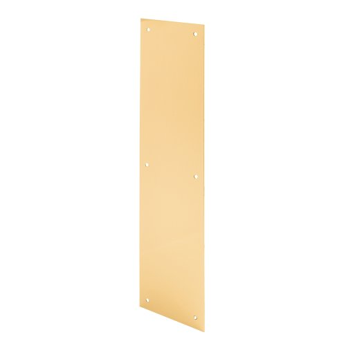 Prime-Line Products J 4719 Door Push Plate, 3.5 X 15-Inch, Polished Brass
