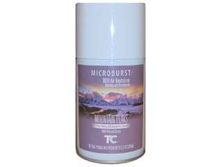 Technical Concepts Air Freshener - Rubbermaid 4012461 Microburst 9000 Air Freshener Refill Mountain Peaks 5.3oz Aerosol 4/Carton