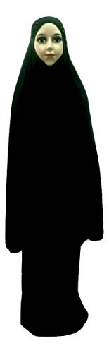 Price comparison product image AnthelicPoint Women's Elegant 2 Pieces Long Prayer Dress For Kid or Girl (Dark Brown)