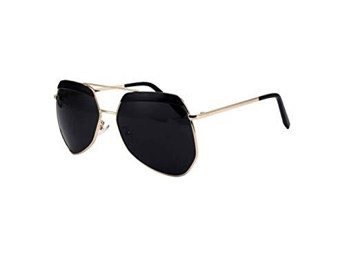 De Cara Gafas Sol Brillante De Sol De Marco liwenjun Gafas Salvaje Protección De Polarizadas De De Negro Oro Personalidad Redonda Moda Conduciendo Gafas UV Película 4xRPqCwP