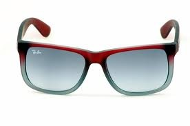6e9d5a6808 ... italy new ray ban rb4165 856 11 justin rubber red gray gradient lens  55mm sunglasses 6d20a