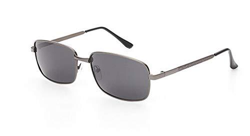 Metal frame Gray Aviator Sun Transition Photochromic Bifocal Reading Glasses UV400 Eyewear (Gray, 2.00) ()