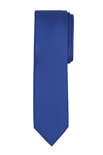 - Jacob Alexander Boy's Regular Self Tie Prep Solid Color Necktie - Royal