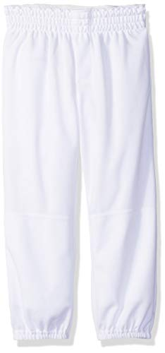 Alleson Ahtletic Youth Pull on Baseball Pants, White, Large