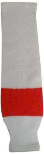 fan products of DoGree Hockey Philadelphia Flyers Knit Hockey Socks, White/Orange, Adult/32-Inch