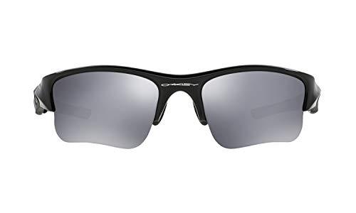 Oakley Flak Jacket XLJ Sunglasses (Jet Black Frame, Black Iridium Lens) with Lens Cleaning Kit and Ellipse O Carbonfiber Hard Case (Flak Jacket Xlj-oakley)