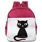 Custom Funny Fancy Cat Children School Bag Backpack For 1-6 Years Old Pink Cinderella Address Labels