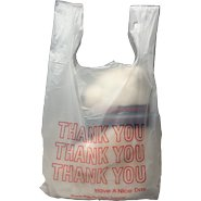 International Plastics - 11.5'' x 6.5'' x 22'' Thank You Shopping Bags 0.65 Mil - 1000/Case (2 Cases)