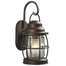 Hampton Bay Harbor 1-light Outdoor Copper Small Wall Lantern
