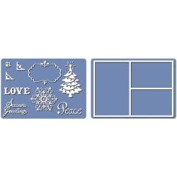 Sizzix Framelits Die and Embossing Folder Christmas Collage Frames Set (12 Pack)