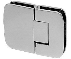 C.R. LAURENCE R0M180BN CRL Brushed Nickel Roman 180 Series 180 Degree Glass-To-Glass Standard Hinge by C.R. Laurence