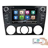 HIZPO Autoradio Multimedia Player for BMW E 90 E91 E92 mit GPS Navi support Bluetooth Subwoofer USB MicroSD 7 Inch TouchScreen