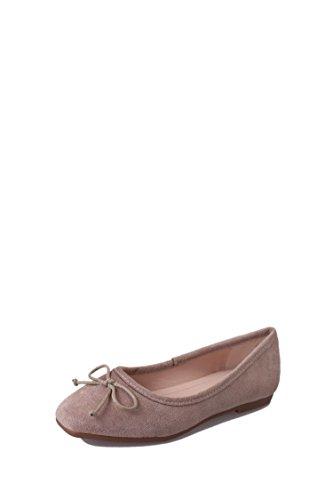 Single Flat Women's Bow head shoes Suede tie Casual Gray Square Bwxx56qpa