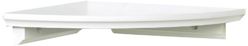 InPlace Shelving 0199020 Corner Shelf Kit, 10-Inch by 10-Inch, White - Use Shelf Kit