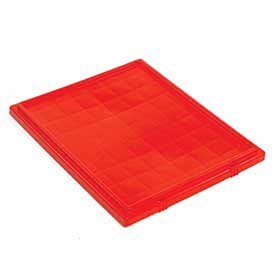 - Quantum Lid For Stack And Nest Tote Boxes - Fits Totes 52483,52485 - Red - Red - Lot of 6