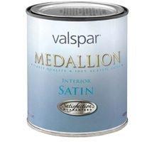 Valspar 27-3400 QT 1 Quart White Base Medallion 100% Acrylic VOC Interior Paint -