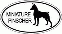 - Miniature Pinscher Bumper Sticker