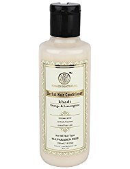 Khadi Natural Herbal Orange Lemongrass Hair Conditioner Sls And Paraben Free (210 ml) (Herbal Shampoo Lemongrass)