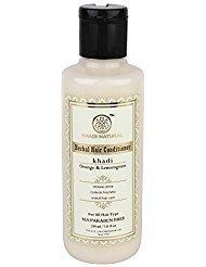 Khadi Natural Herbal Orange Lemongrass Hair Conditioner Sls And Paraben Free (210 ml) (Lemongrass Shampoo Herbal)