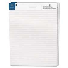 Self-Stick Easel Pads, Ruled, 30 Shts, 25''x30'', 2/PK, WE, Sold as 1 Carton by Business Source