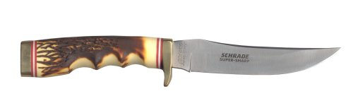 Schrade 153UH Uncle Henry Golden Spike Knife Fixed Blade, Outdoor Stuffs