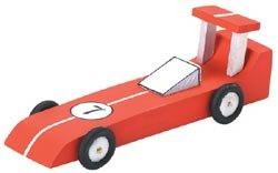Bulk Buy: Darice Wood Model Kit Race Car 9169-03 (6-Pack) (Race Wood Car)