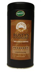 Rusty's Hawaiian Coffee, Ka'u Classic Peaberry 3.5 ounce, Single Origin Whole Bean Coffee