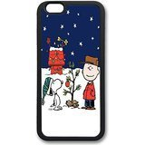 Charlie Brown Costume Pattern (BEST?iPhone 6 Case, Bumper Protective Case Black Skin Case for iPhone 6 (4.7 inch) - Charlie Brown Snoopy Christmas Pattern)
