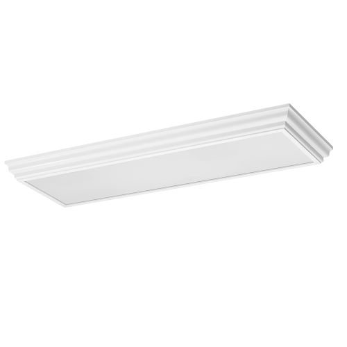 Sea Gull Lighting 59361LE-15, Drop Lens CFL Square ES Ceiling Lighting, 4LT CFL, White