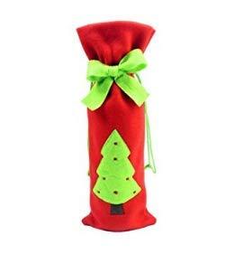 Caomoa Portavasos de Navidad Papá Noel tapa de la botella de vino Papá Noel botella de vino con porta botellas de vino