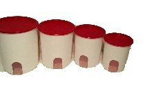 (Tupperware Canister Storage Countertop Canisters Airtight Lids 4 Piece)