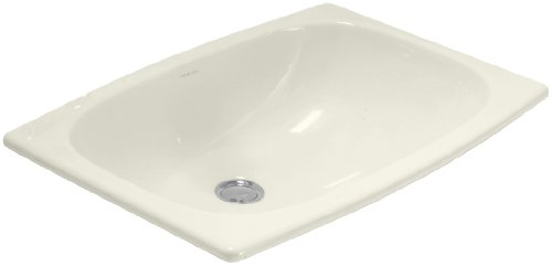 Sterling 442007-96 Stinson Self-Rimming Lavatory, Biscuit (Hole Self Rimming Lavatory Sink)
