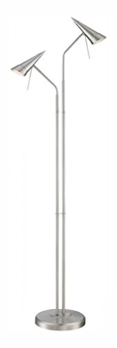 2-Lite Floor Lamp, Ps/Metal Shade, Type Gu10 50Wx2