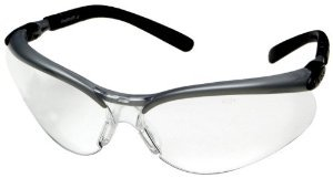 3M Anti-Fog Safety Glasses, Silver/Black Frame, Clear Lens